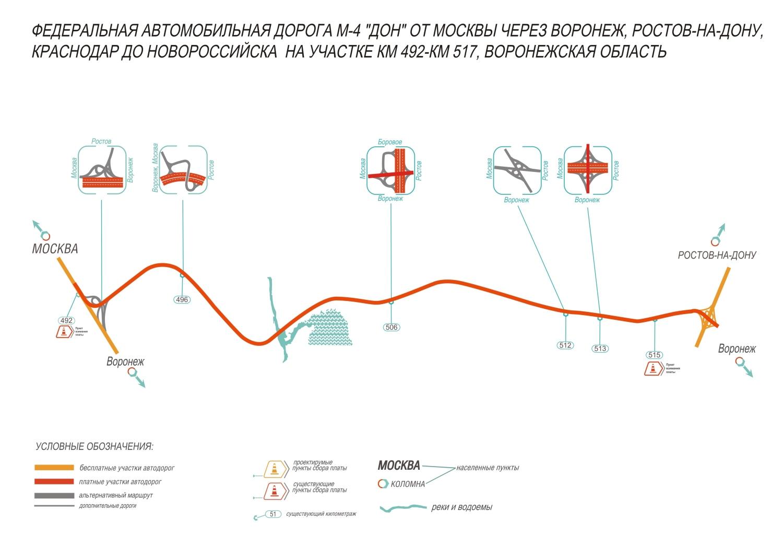 Схемы платных участки м4
