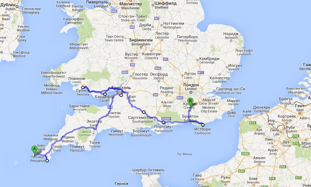 Great Britain trip, part 12, Lizard, Cardiff, Swansea, Portsmouth, Eastbourne